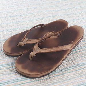 Rainbow Sandals XL 8.5-9.5 Light Brown Sandals